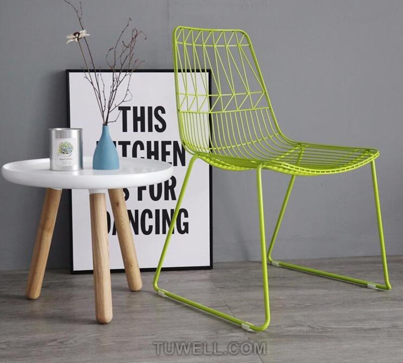 Tuwell-High Quality TW8602 Metal Wire Chair | Wire Chair-12