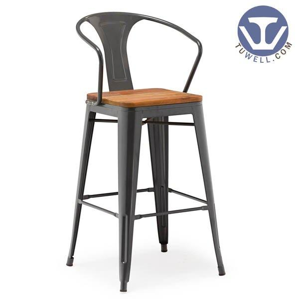 TW8012-L Tolix bar chair, tolix batstool, dining chair, barstool with backrest, steel stool