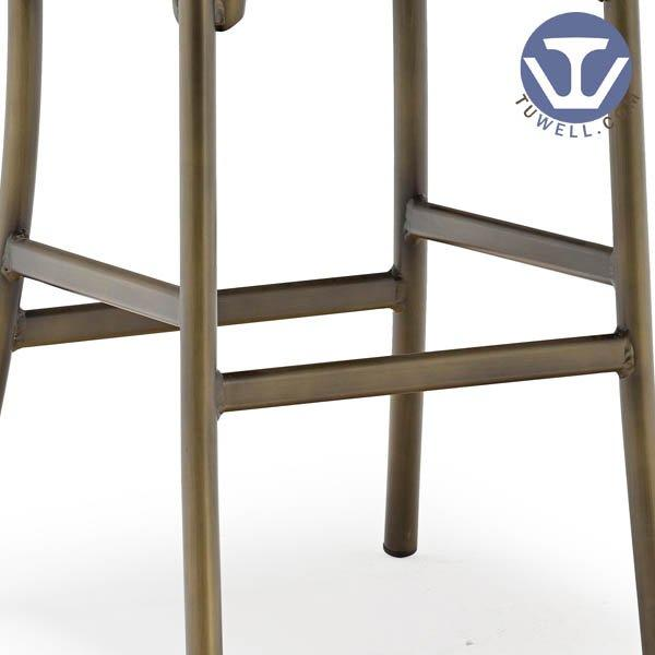 TW8022-L vintage indoor and outdoor Aluminum cross back bar chair coffee chair american country style