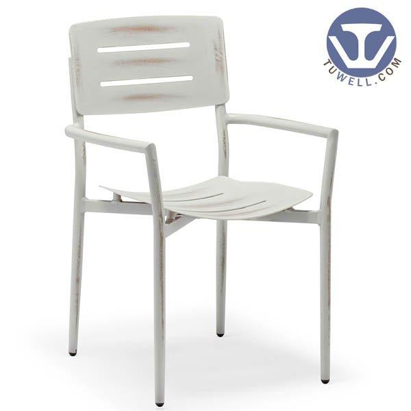 TW8112  Aluminum chair with arms