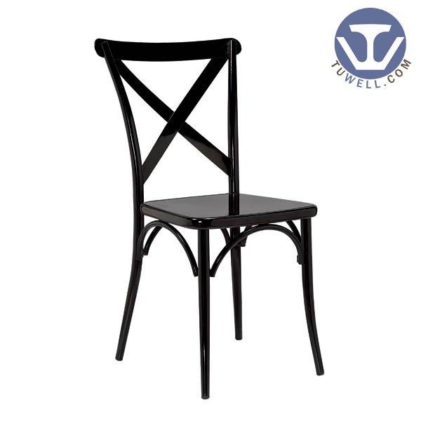 TW8092  Steel cross back dinning chair American country style