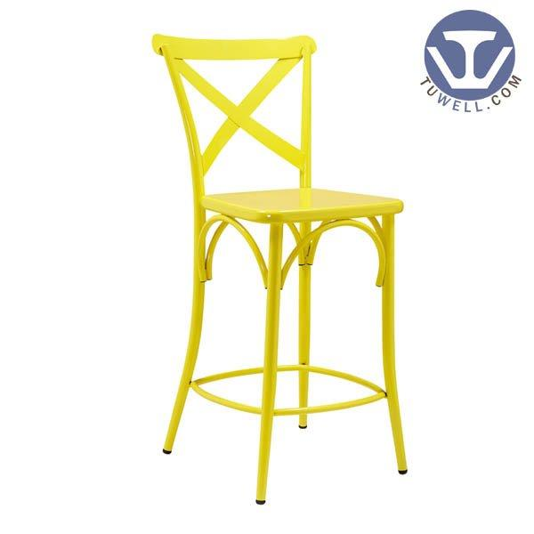 TW8092-L Steel cross back barchair coffee shop American country style