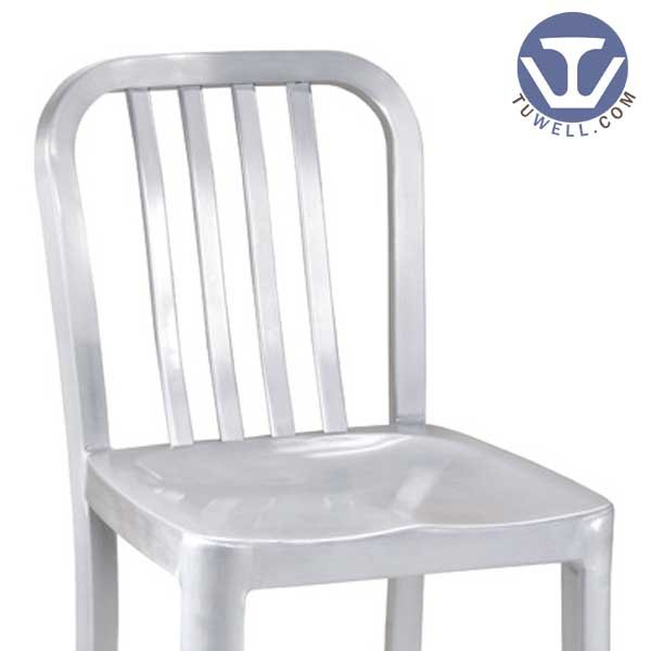 Tuwell-High Quality Tw1004-m Aluminum Navy Counter Stool | Navy Chair-5