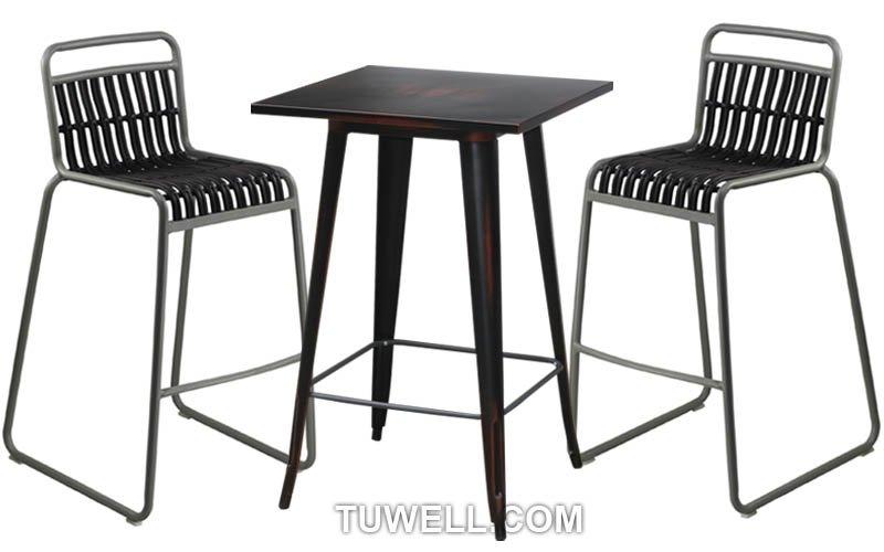 Tuwell-Best Tw8109-l Aluminum Rattan Bar Chair Small Rattan Chairs-5