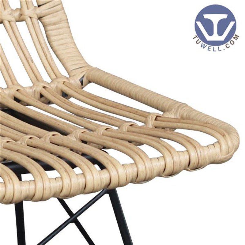 TW8708 metal Rattan chair natural dinning chair European leisure style