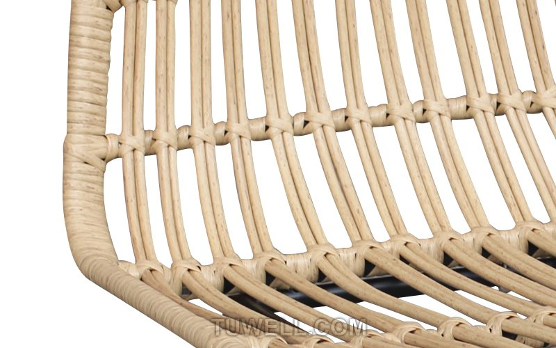 Tuwell-Find TW8708 Steel Rattan Chair-8