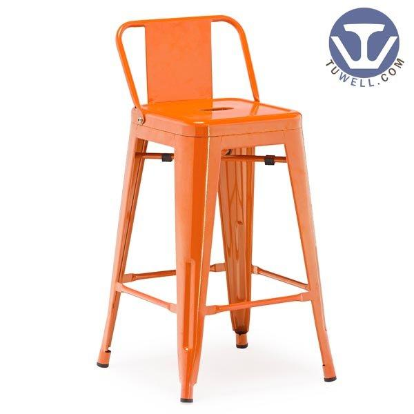 TW8005-M Steel Tolix barstool, dining chair, barstool with backrest, steel stool