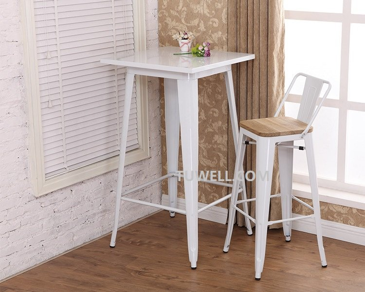 Tuwell-Tw8005-l Steel Tolix Barstool | White Tolix Chairs | Tolix Chair-10