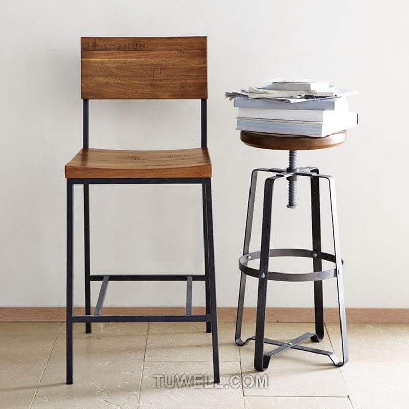 Tuwell-Find Tw8038 Steel Bar Stool Dinning Chair Coffee Chair Party Chair Nordic-6