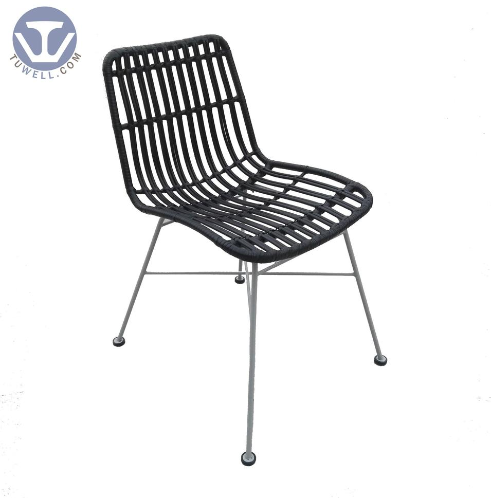 TW8717  indoor outdoor metal rattan chair  natural dining chair European leisure style