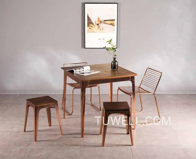 Tuwell-Tw7041 Wood Dining Table   Bar Height Dining Table   Dining Table-8