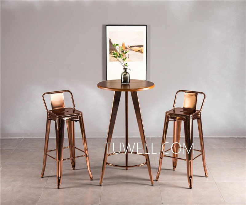 Tuwell-Tw7032-l Wood Dining Bar Table | Breakfast Bar Table And Chairs | Dining Table-9