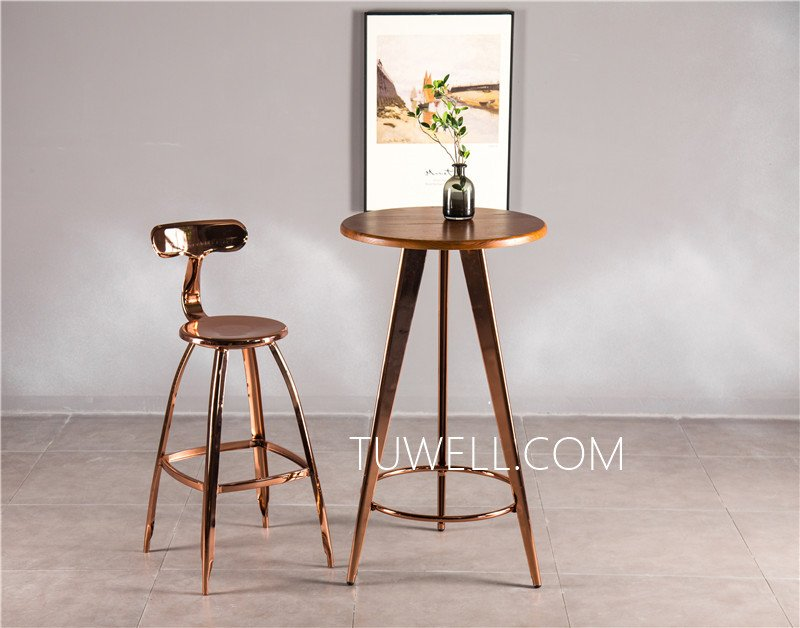 Tuwell-Tw7032-l Wood Dining Bar Table | Breakfast Bar Table And Chairs | Dining Table-11