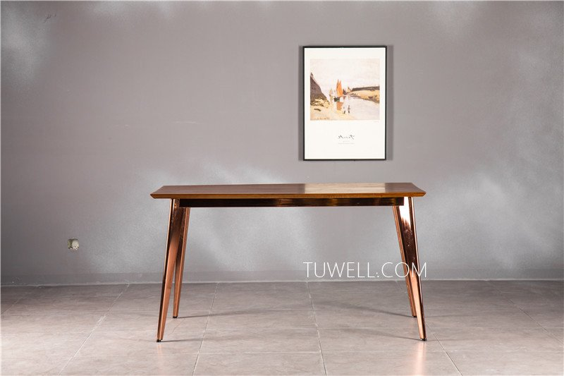 Tuwell-Find Tw7038 Wood Dining Table | White Bar Height Table-4