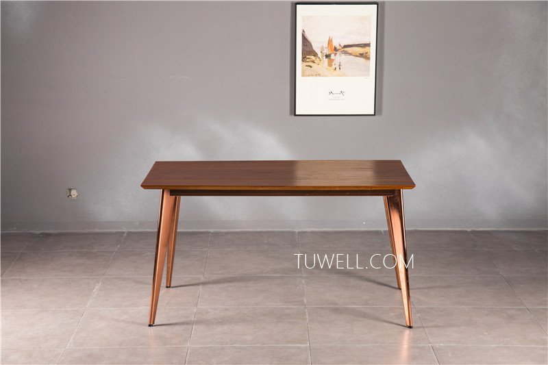 Tuwell-Find Tw7038 Wood Dining Table | White Bar Height Table-5