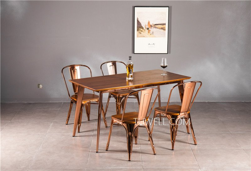 Tuwell-Find Tw7038 Wood Dining Table | White Bar Height Table-6