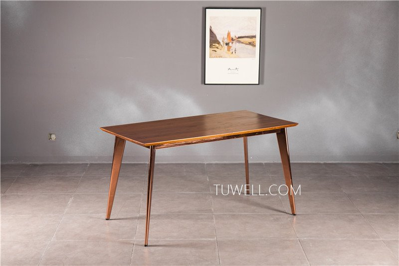 Tuwell-Find Tw7038 Wood Dining Table | White Bar Height Table-7