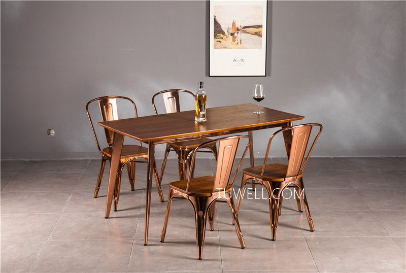 Tuwell-Find Tw7038 Wood Dining Table | White Bar Height Table-9