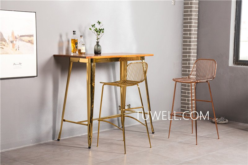 Tuwell-Find Tw7039-l Wood Dining Bar Table | Bar Height Dining Table-6
