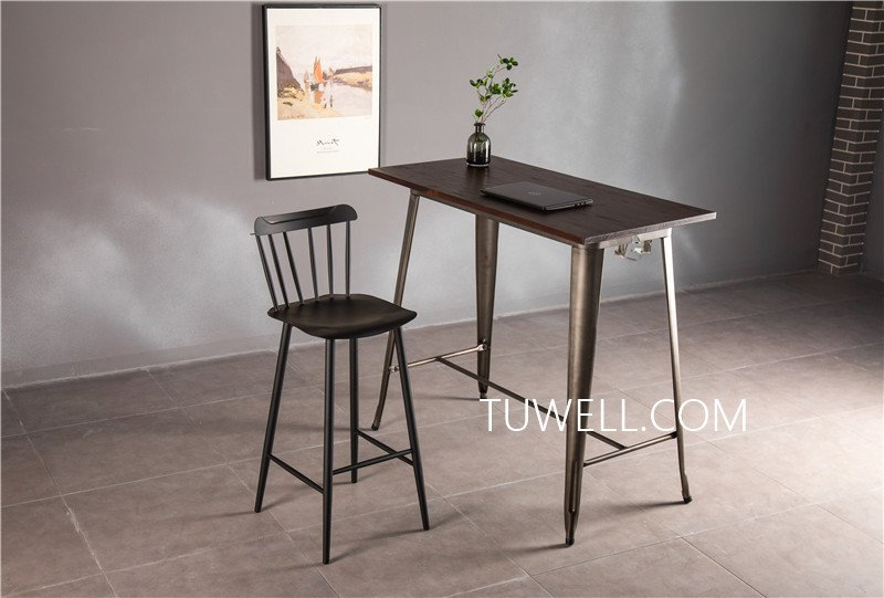 Tuwell-Find Tw7039-l Wood Dining Bar Table | Bar Height Dining Table-9