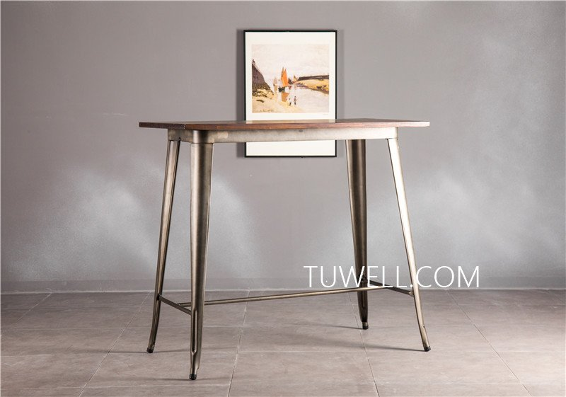 Tuwell-Find Tw7039-l Wood Dining Bar Table | Bar Height Dining Table-8