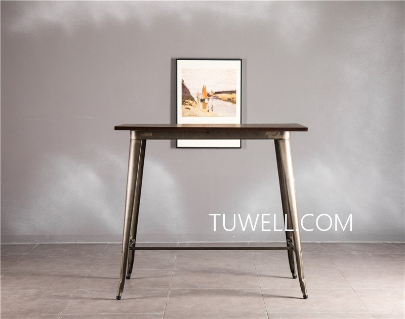 Tuwell-Find Tw7039-l Wood Dining Bar Table | Bar Height Dining Table-7