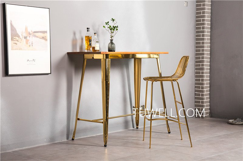 Tuwell-Find Tw7039-l Wood Dining Bar Table | Bar Height Dining Table-4