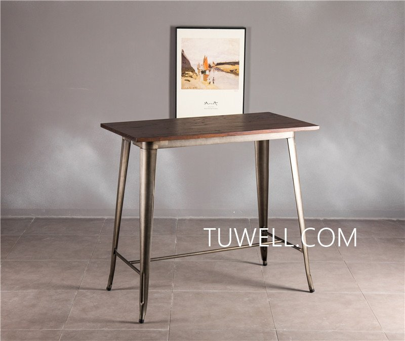 Tuwell-Find Tw7039-l Wood Dining Bar Table | Bar Height Dining Table-10