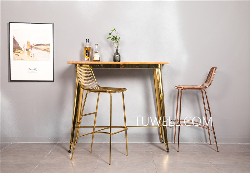 Tuwell-Find Tw7039-l Wood Dining Bar Table | Bar Height Dining Table-5