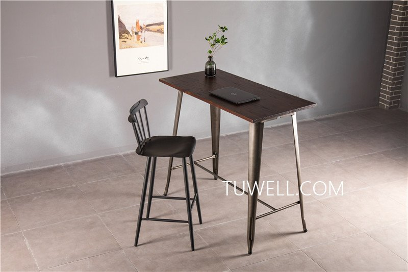 Tuwell-Find Tw7039-l Wood Dining Bar Table | Bar Height Dining Table-11