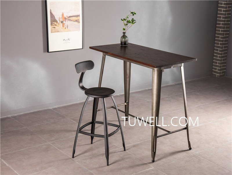Tuwell-Find Tw7039-l Wood Dining Bar Table | Bar Height Dining Table-15