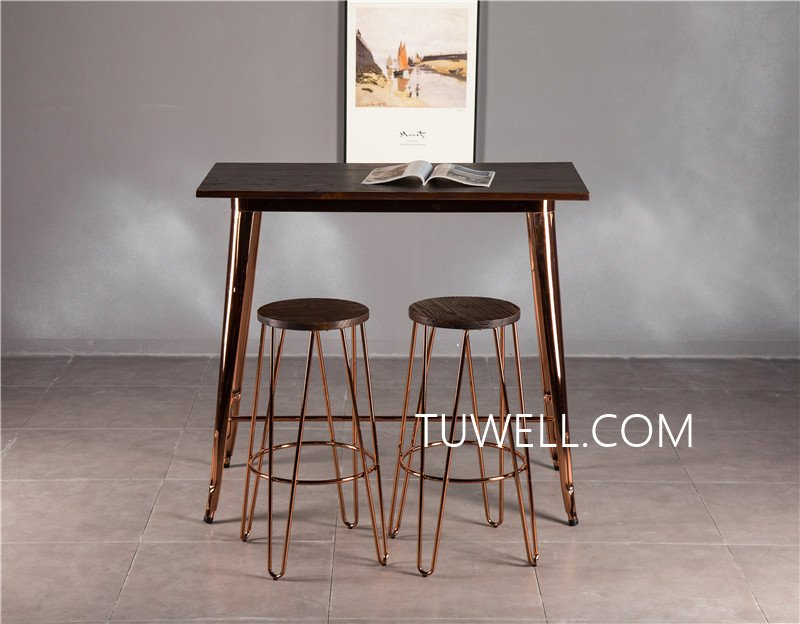 Tuwell-Find Tw7039-l Wood Dining Bar Table | Bar Height Dining Table-16