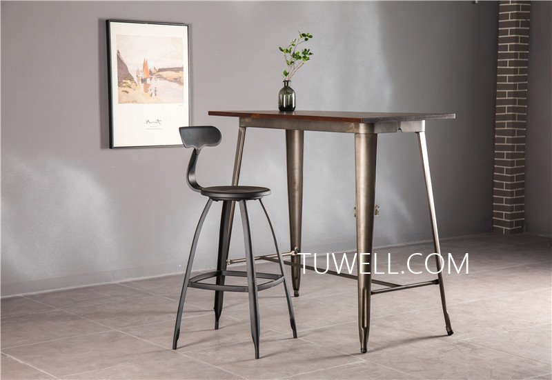 Tuwell-Find Tw7039-l Wood Dining Bar Table | Bar Height Dining Table-13