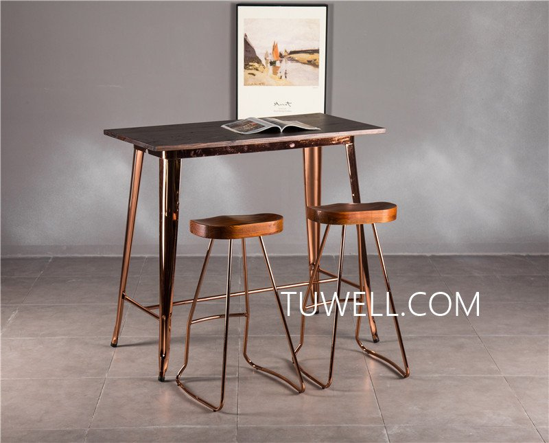 Tuwell-Find Tw7039-l Wood Dining Bar Table | Bar Height Dining Table-18