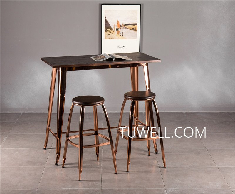Tuwell-Find Tw7039-l Wood Dining Bar Table | Bar Height Dining Table-20