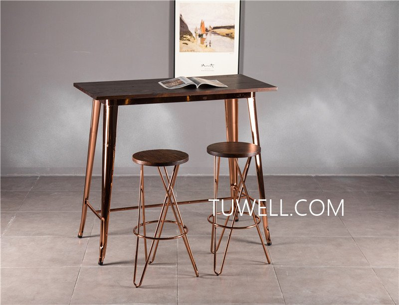 Tuwell-Find Tw7039-l Wood Dining Bar Table | Bar Height Dining Table-21