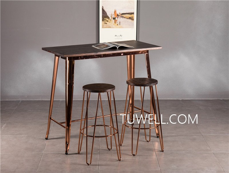 Tuwell-Find Tw7039-l Wood Dining Bar Table | Bar Height Dining Table-17