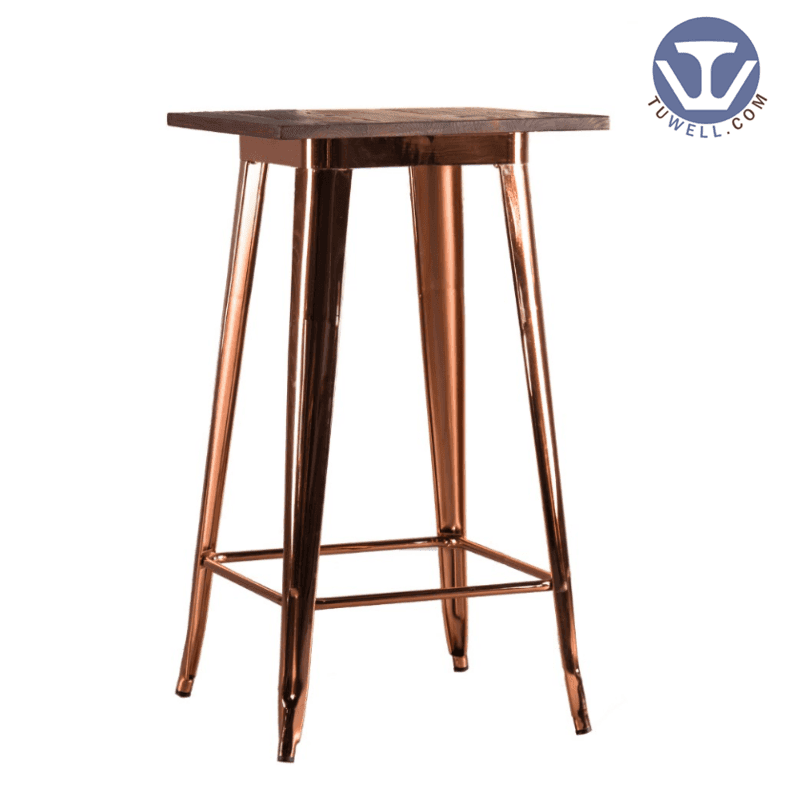 wood and metal bar stools TW8008-LW Wood dining bar table cafe bar table Guidelines