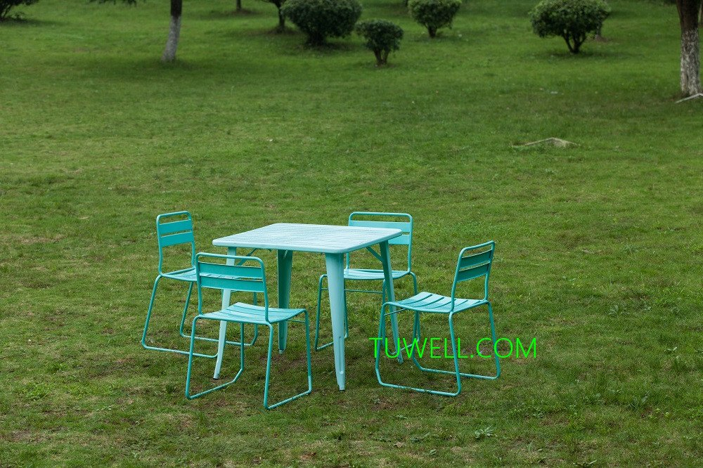 Tuwell-Find Tw6616 Steel Dining Chair | Tubular Steel Chair-4