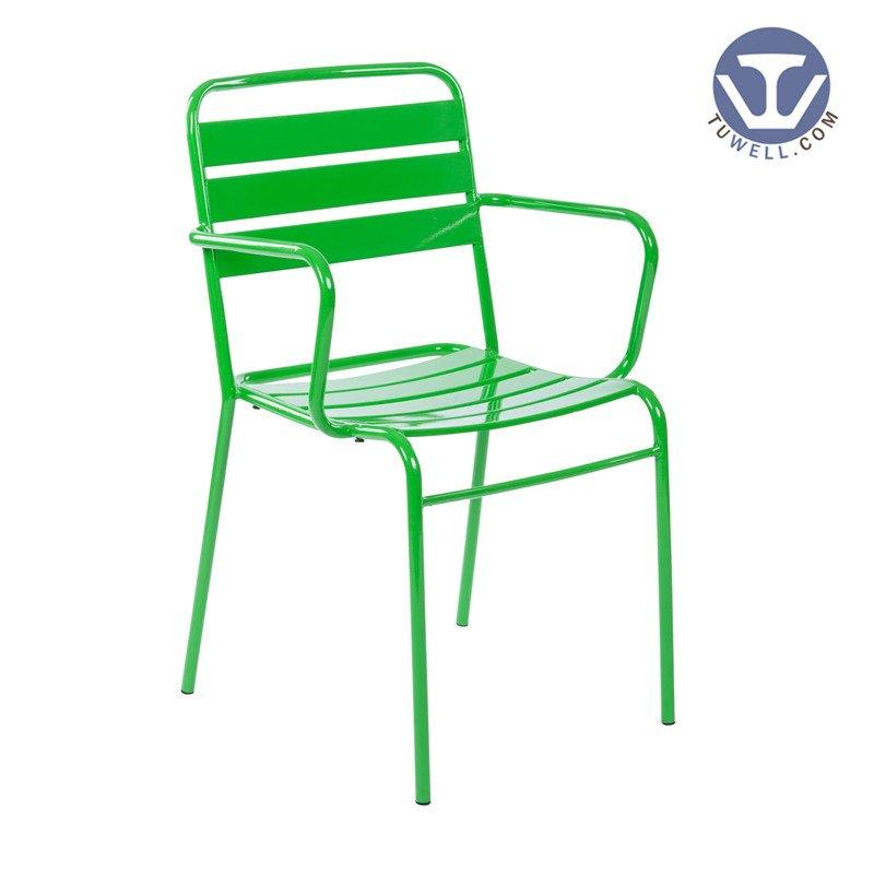 TW6819F Steel dining chair with arms coffee chair Nordic style