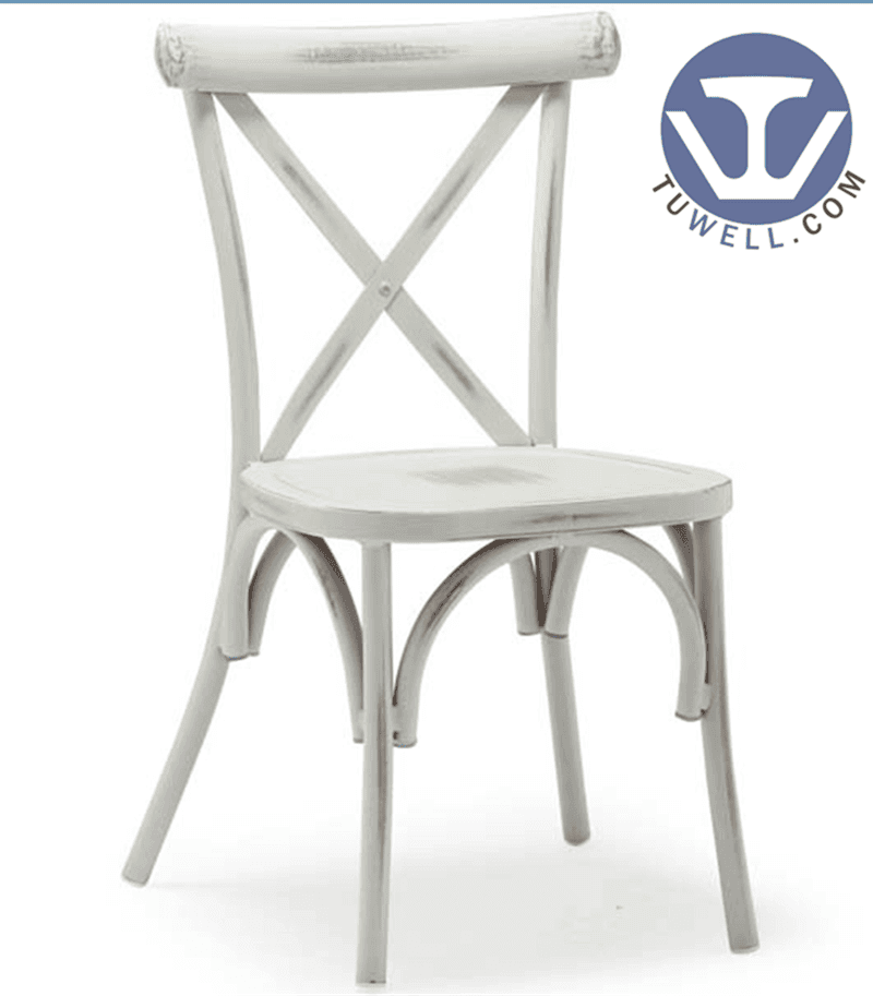 TW8080 vintage Aluminum cross back chair indoor and outdoor American country style