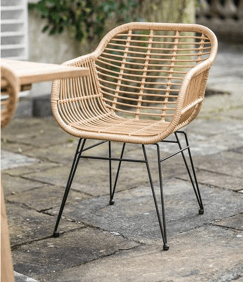 Tuwell-Find TW8711 Steel Rattan Chair-11