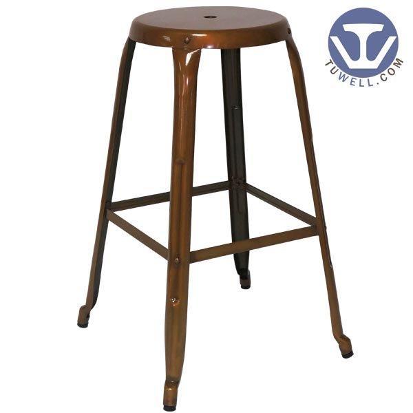 TW8010 Steel Tolix barstool, steel dining stool, restaurant chair, bistro barstool