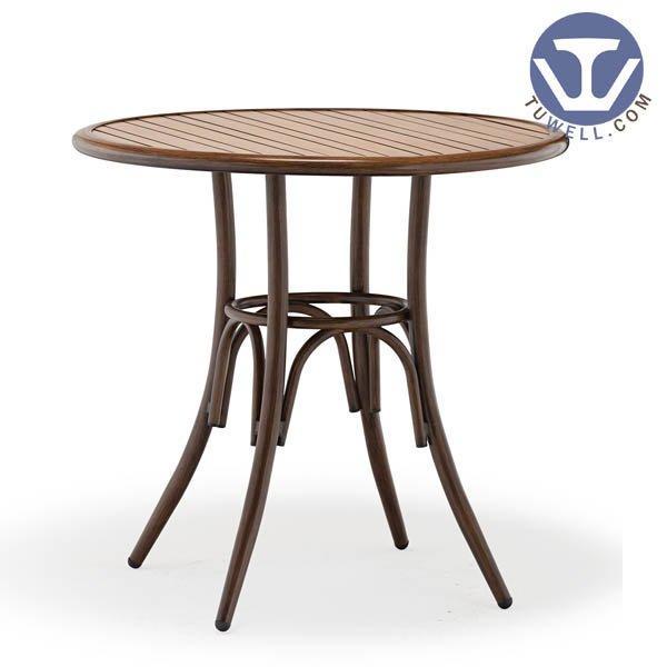 TW7028 Aluminum dining table cafe bar table