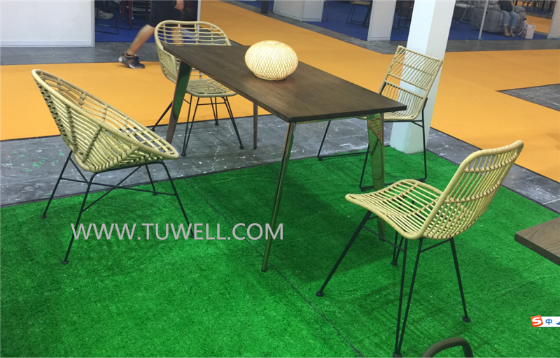 Tuwell-Find TW8716 Steel Rattan Chair-4