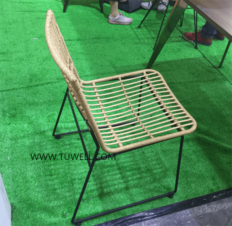 Tuwell-Find TW8708 Steel Rattan Chair-13