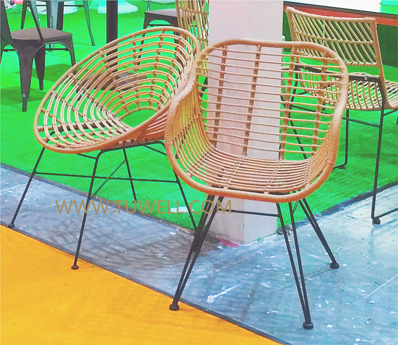 Tuwell-Find TW8711 Steel Rattan Chair-12