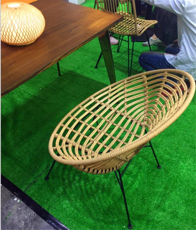 Tuwell-Find TW8712 Steel Rattan Chair-12