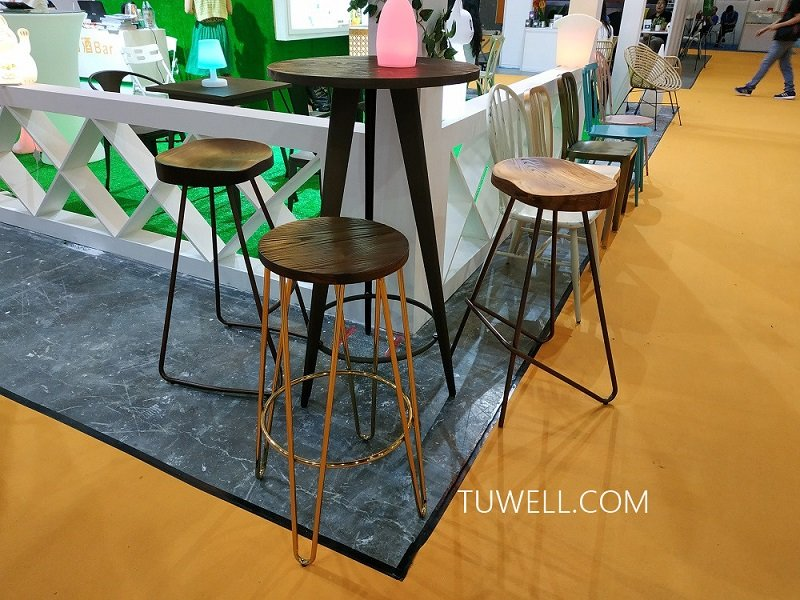 Tuwell-Tw7032-l Wood Dining Bar Table | Breakfast Bar Table And Chairs | Dining Table-13