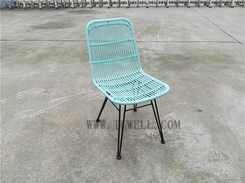 Tuwell-Find TW8714 Steel Rattan Chair-6